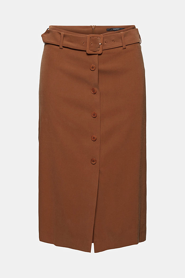 Pencil skirt with LENZING™ ECOVERO™, TOFFEE, detail image number 5