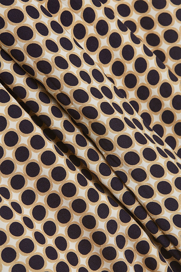 Midi skirt with a graphic polka dot print, NAVY, detail image number 4