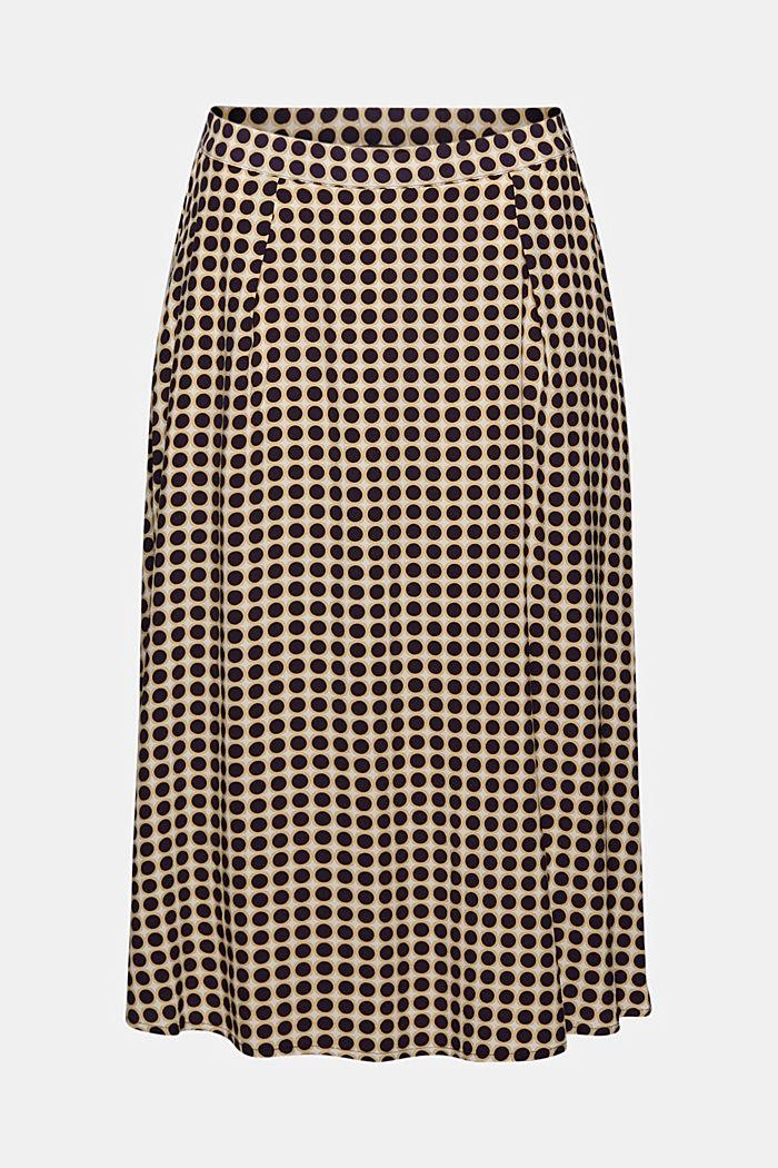 Midi skirt with a graphic polka dot print
