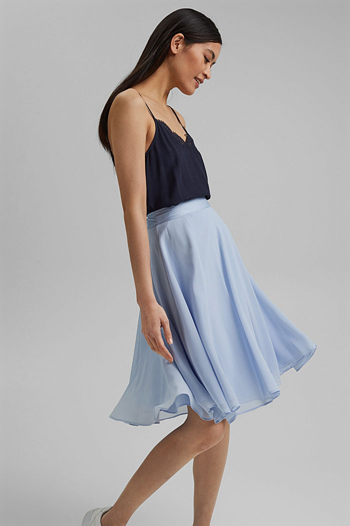 Recycled: Chiffon skirt with a satin waistband