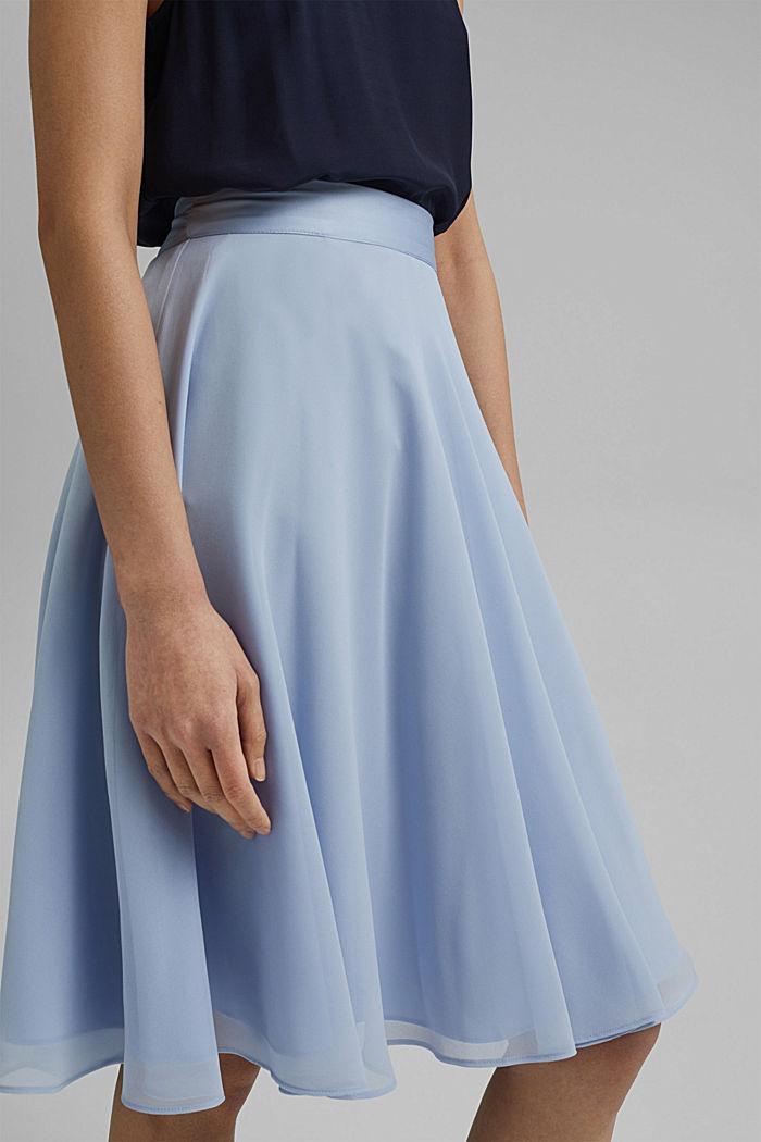 Reciclada: falda de gasa con remates de satén, PASTEL BLUE, detail image number 2