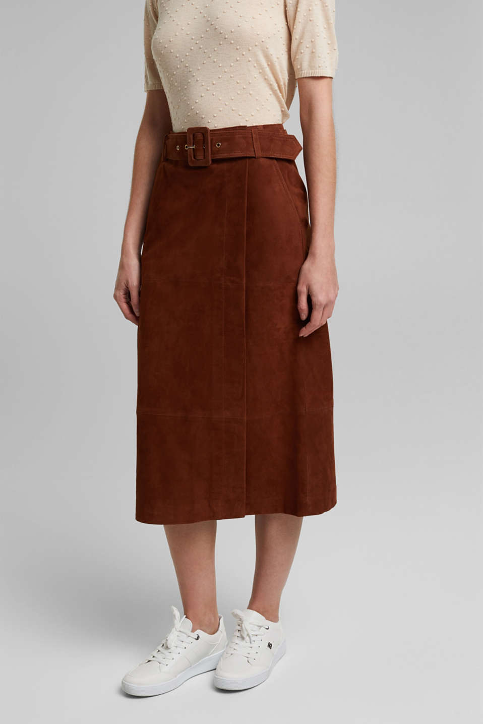 Esprit - Leather wrap-over skirt