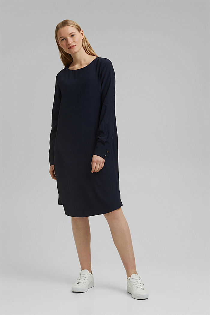 Dress with LENZING™ ECOVERO™, NAVY, detail image number 1