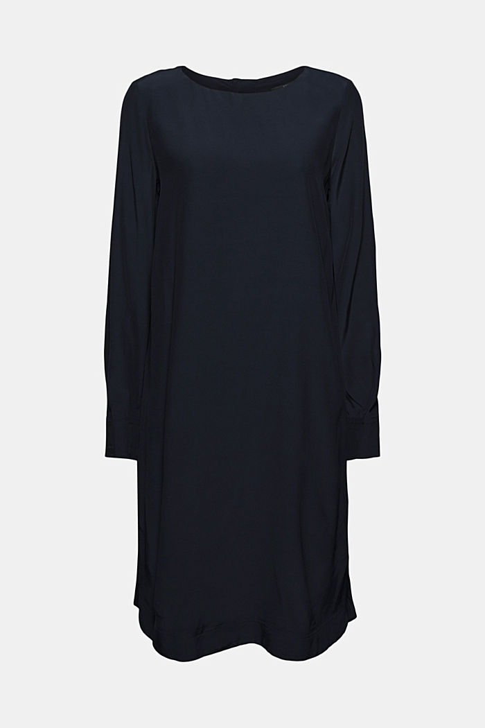 Dress with LENZING™ ECOVERO™, NAVY, detail image number 6