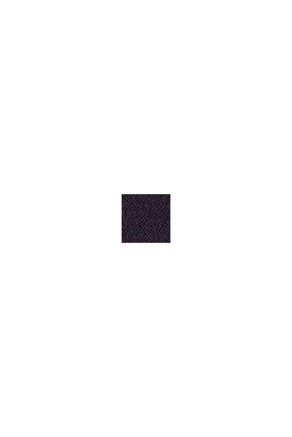 Recycelt: Chiffon-Kleid mit Plissee, NAVY, swatch