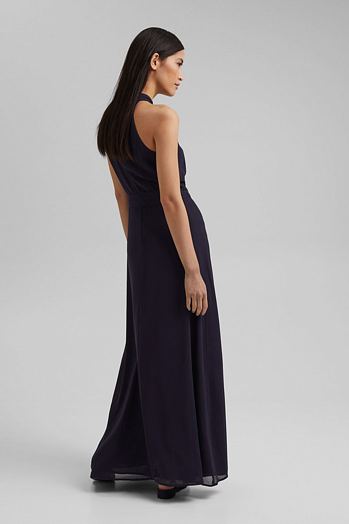 Recycled: chiffon maxi dress, NAVY, detail image number 2