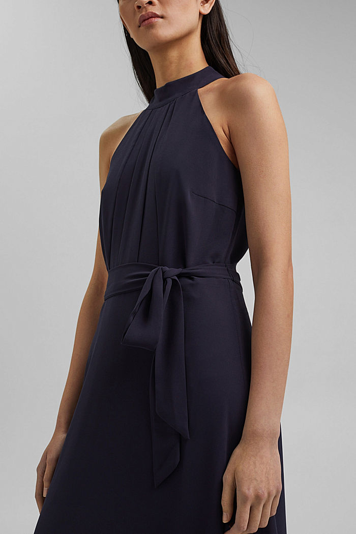 Recycled: chiffon maxi dress, NAVY, detail image number 3