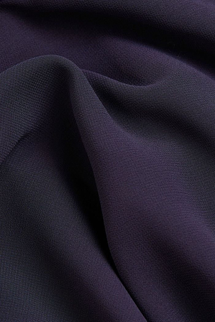 Z recyklingu: szyfonowa sukienka z detalem z tyłu, NAVY, detail image number 4