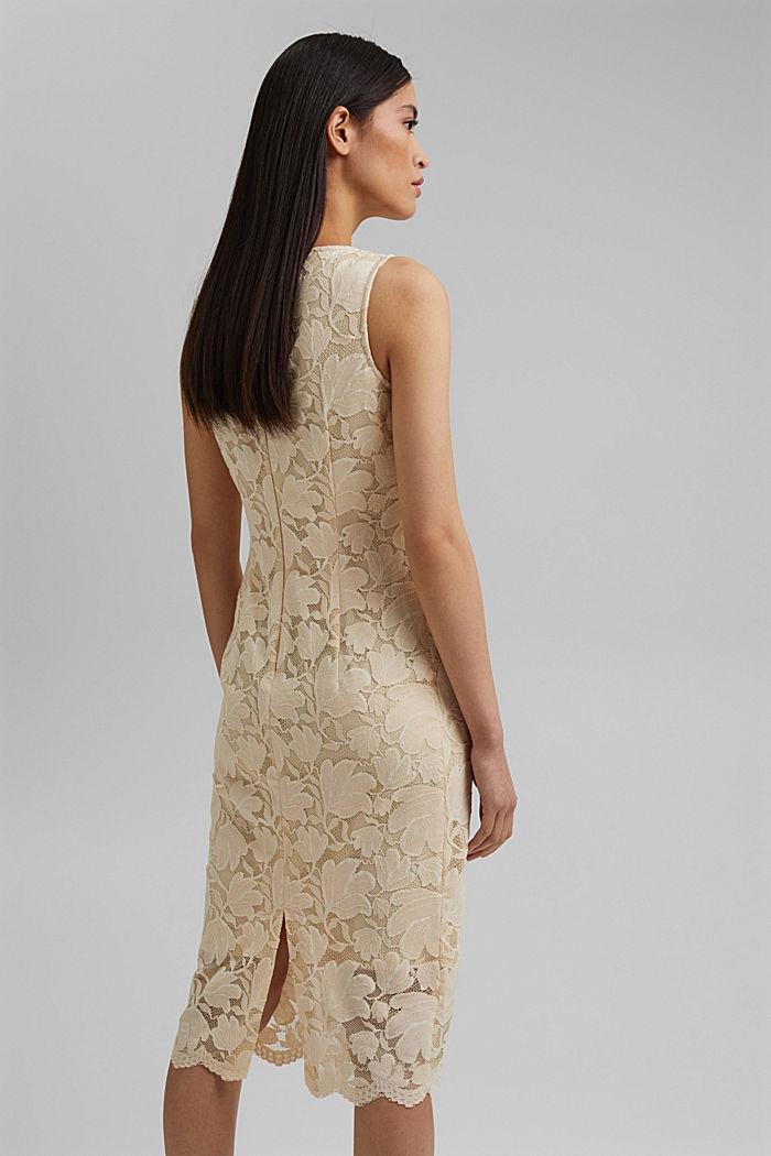 Stretch sheath dress in lace, CREAM BEIGE, detail image number 2