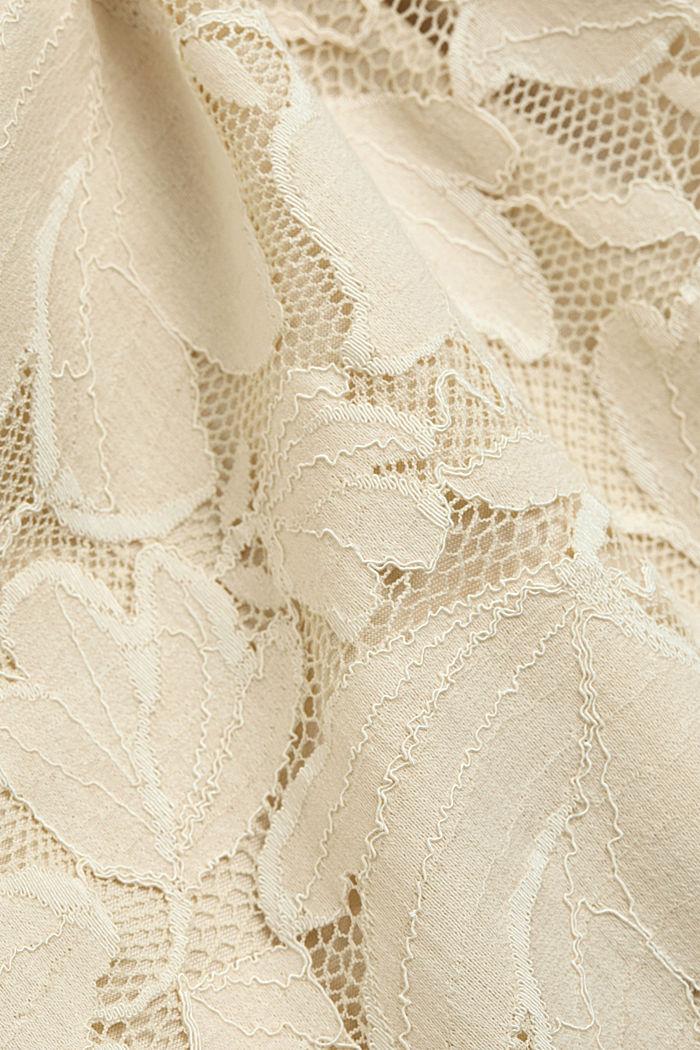 Vestido de tubo de encaje elástico, CREAM BEIGE, detail image number 4