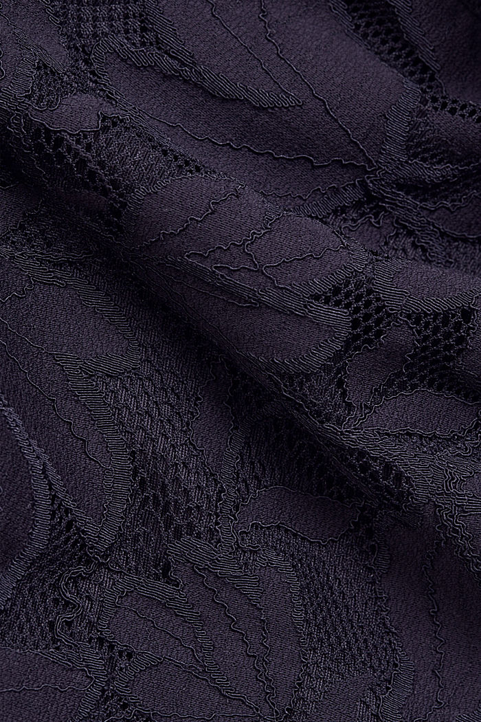 Stretch sheath dress in lace, NAVY, detail image number 4