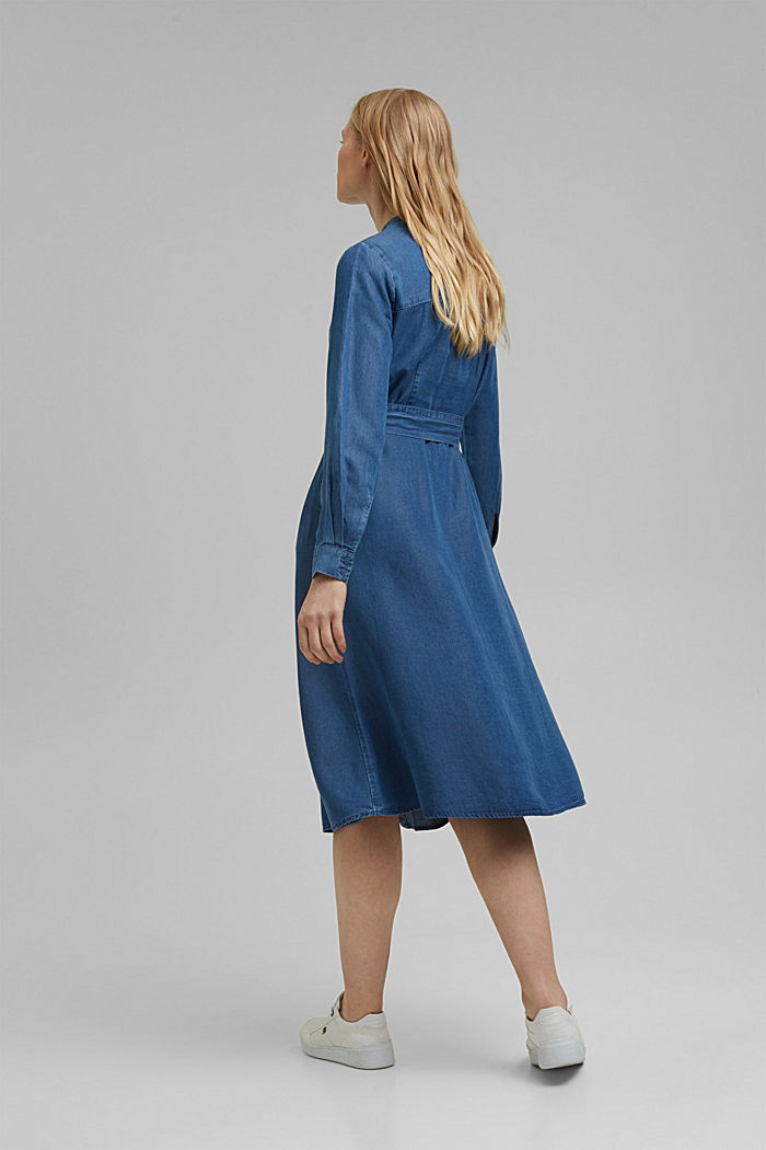 Made of TENCEL™: denim-effect dress, BLUE MEDIUM WASHED, detail image number 2