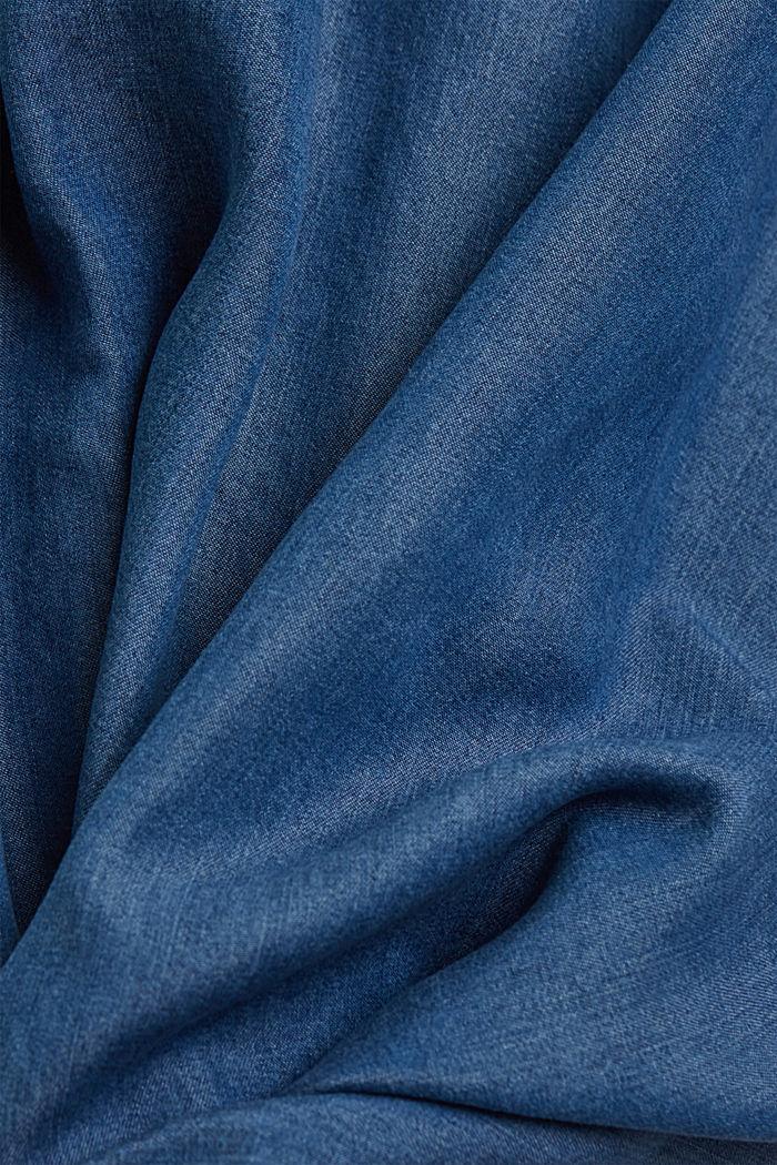 Aus TENCEL™: Kleid in Denim-Optik, BLUE MEDIUM WASHED, detail image number 4