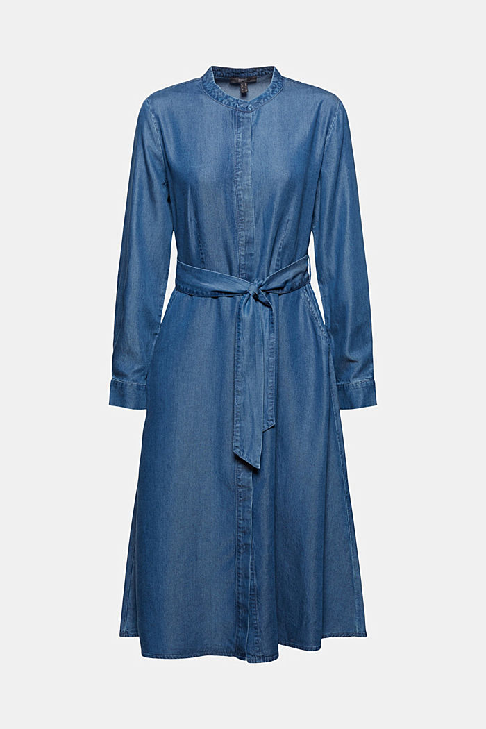 Aus TENCEL™: Kleid in Denim-Optik