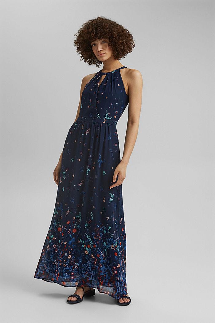 Recycled: halterneck maxi dress, NAVY, detail image number 1