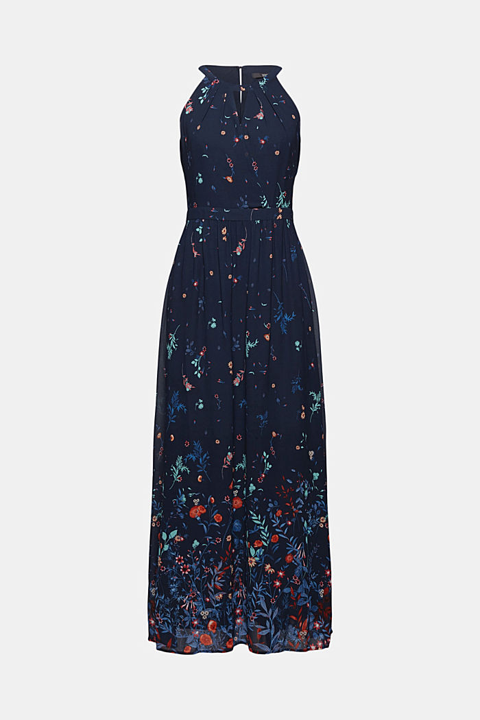 Recycled: halterneck maxi dress