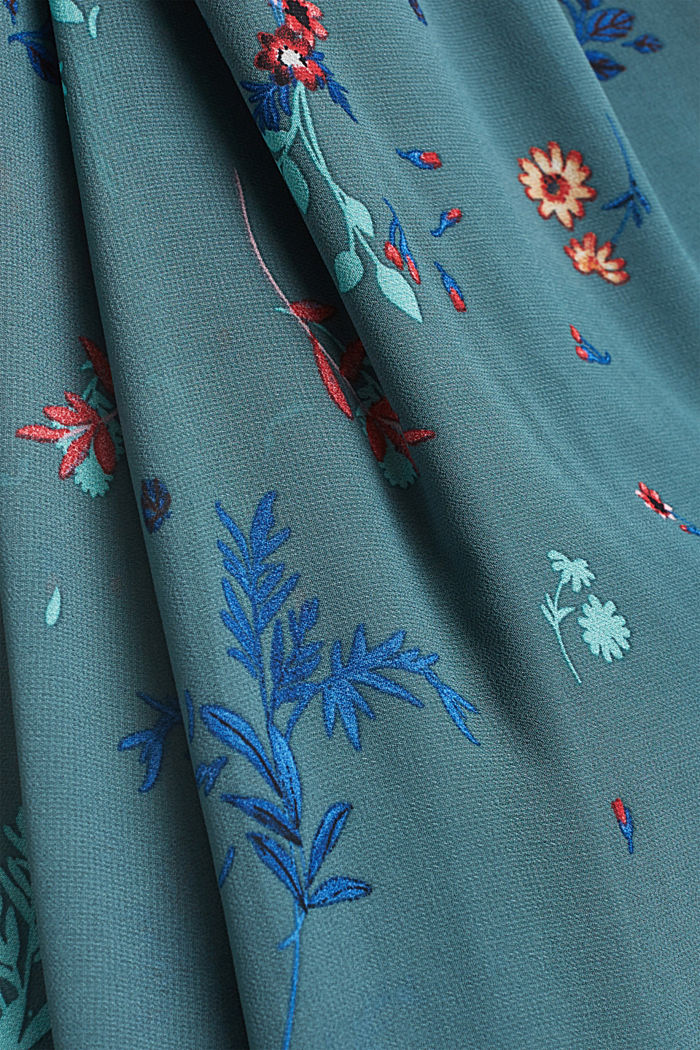 Gerecycled: maxi-jurk met halter, DARK TURQUOISE, detail image number 4