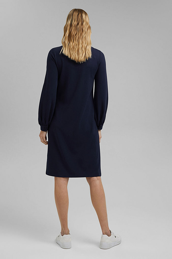 Jersey dress with LENZING™ ECOVERO™, NAVY, detail image number 2
