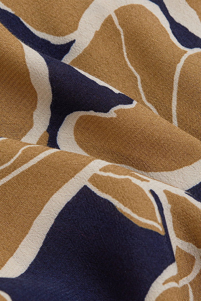 Blusa a fiori con LENZING™ ECOVERO™, NAVY, detail image number 4