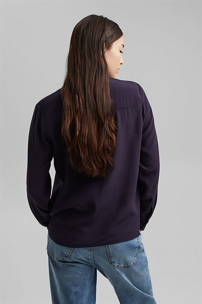 Paitapusero, jossa kauluskäänteet, NAVY, detail image number 3
