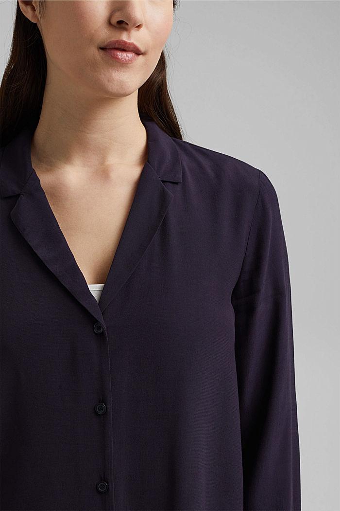 Paitapusero, jossa kauluskäänteet, NAVY, detail image number 2