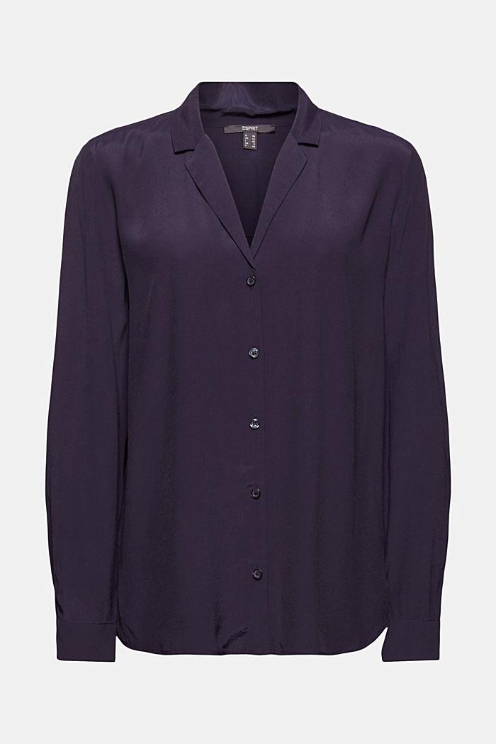 Paitapusero, jossa kauluskäänteet, NAVY, detail image number 8