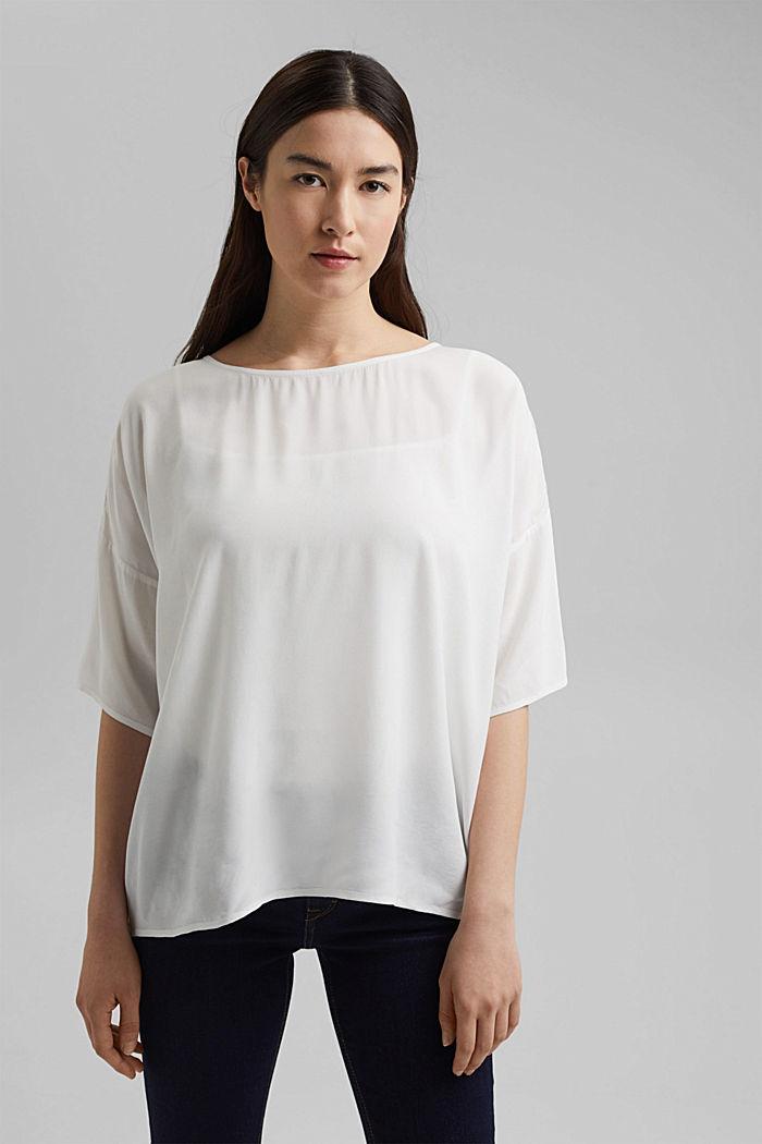 Bluzka w kształcie litery T z LENZING™ ECOVERO™, OFF WHITE, detail image number 0