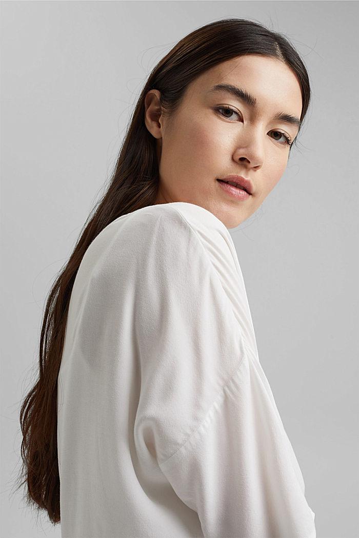 Bluzka w kształcie litery T z LENZING™ ECOVERO™, OFF WHITE, detail image number 5
