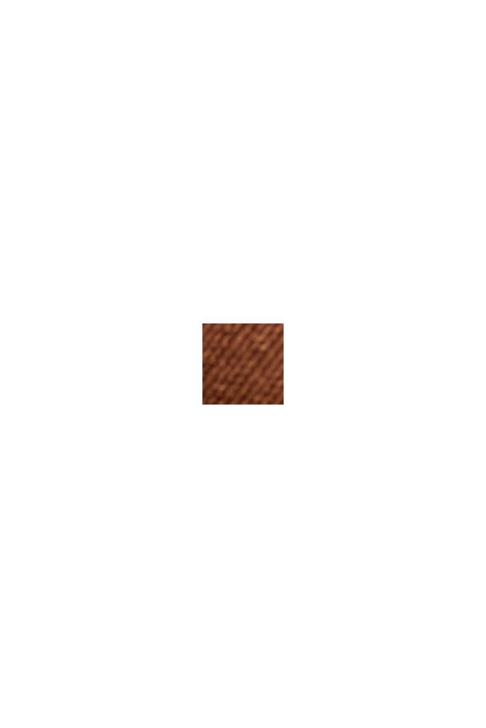 Blouse van LENZING™ ECOVERO™ met T-shirtmodel, TOFFEE, swatch