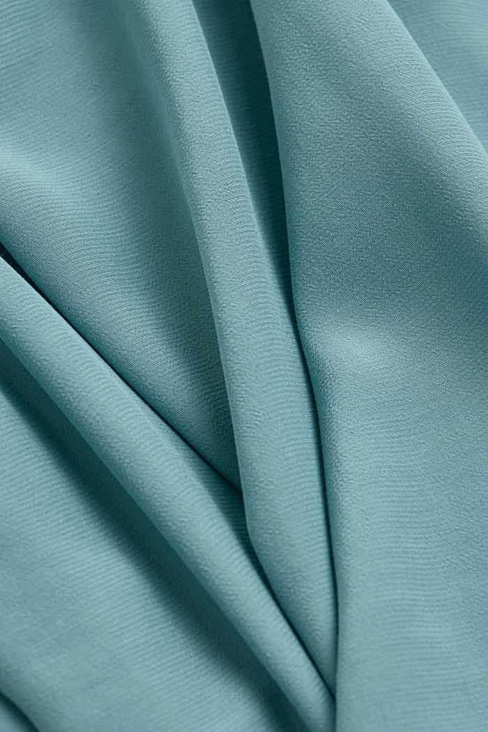 Top med stropper og blonder, LENZING™ ECOVERO™, DARK TURQUOISE, detail image number 4