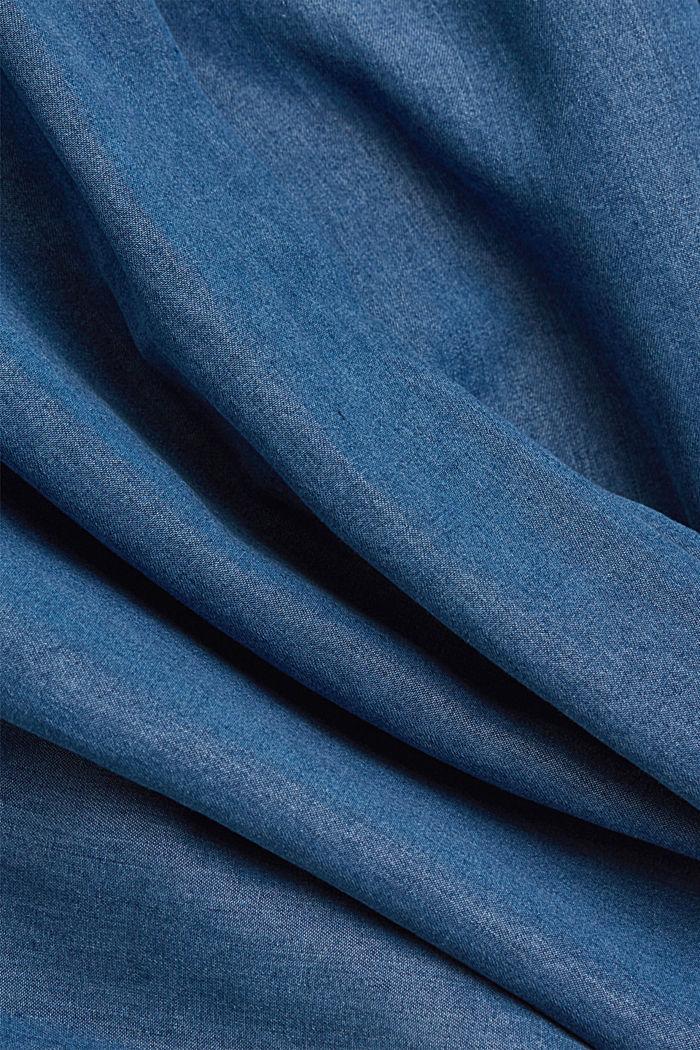 Aus TENCEL™: Bluse in Denim-Optik, BLUE MEDIUM WASHED, detail image number 4