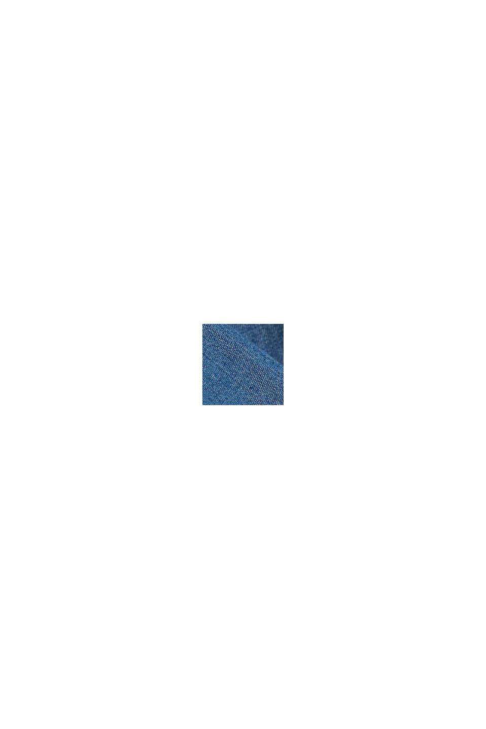 Aus TENCEL™: Bluse in Denim-Optik, BLUE MEDIUM WASHED, swatch