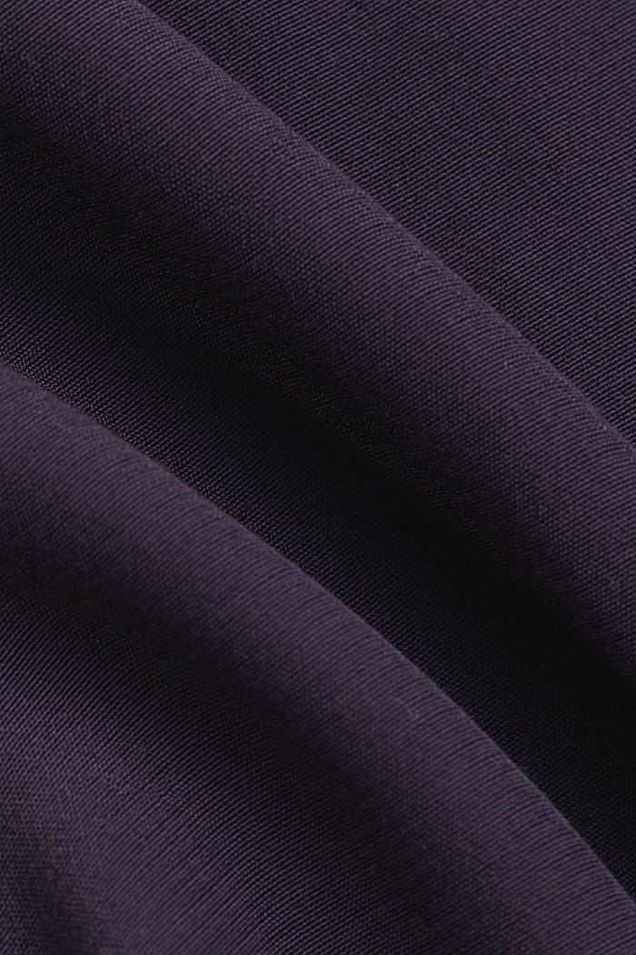 Dainty blouse with a bateau neckline, NAVY, detail image number 4