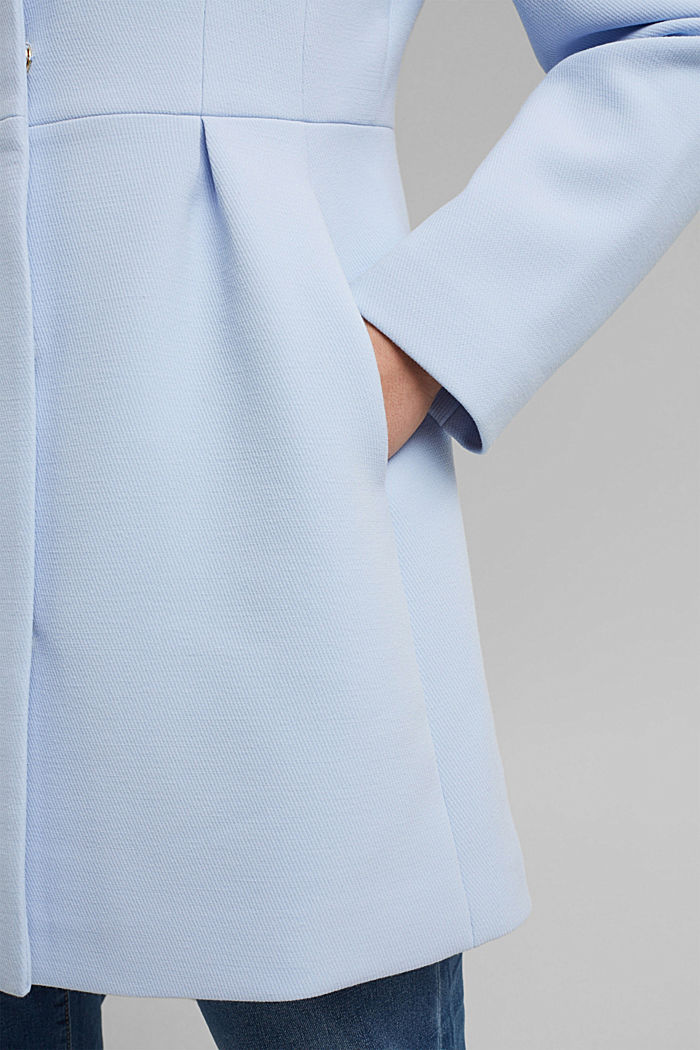 Recycled: short coat with inverted pleats, PASTEL BLUE, detail image number 5