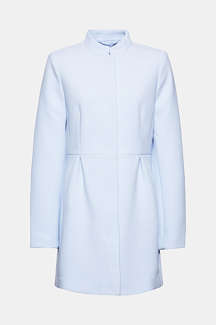 Recycled: short coat with inverted pleats, PASTEL BLUE, detail image number 6