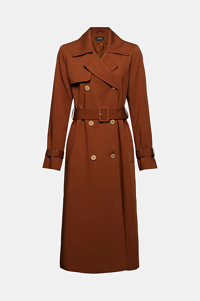 Gerecycled: lange trenchcoat