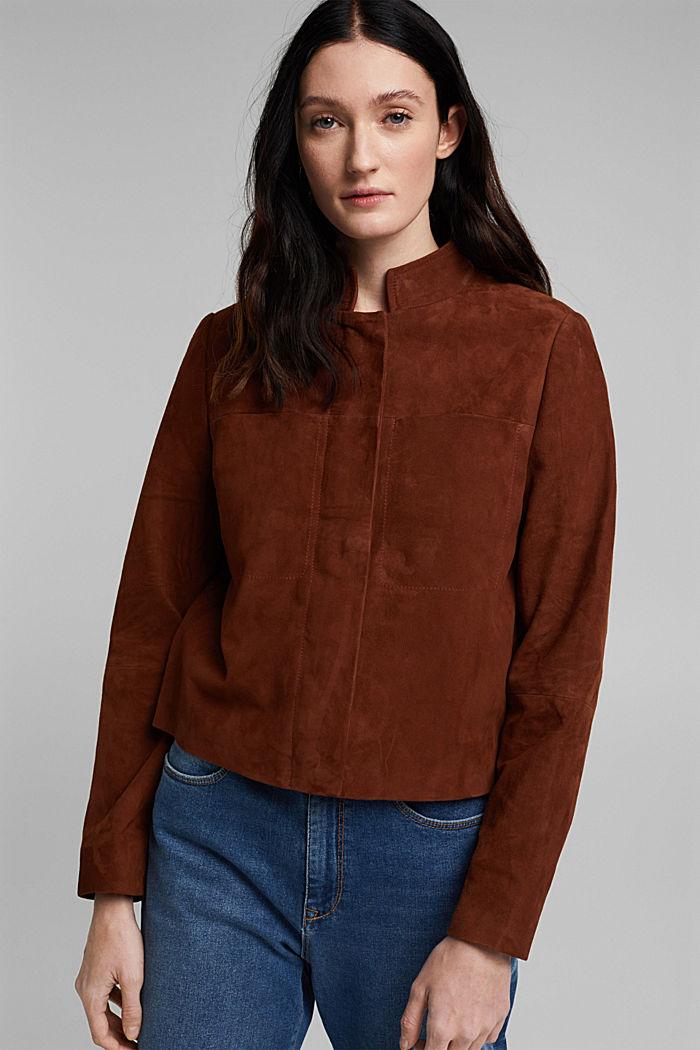 Suede jacket, TOFFEE, detail image number 0