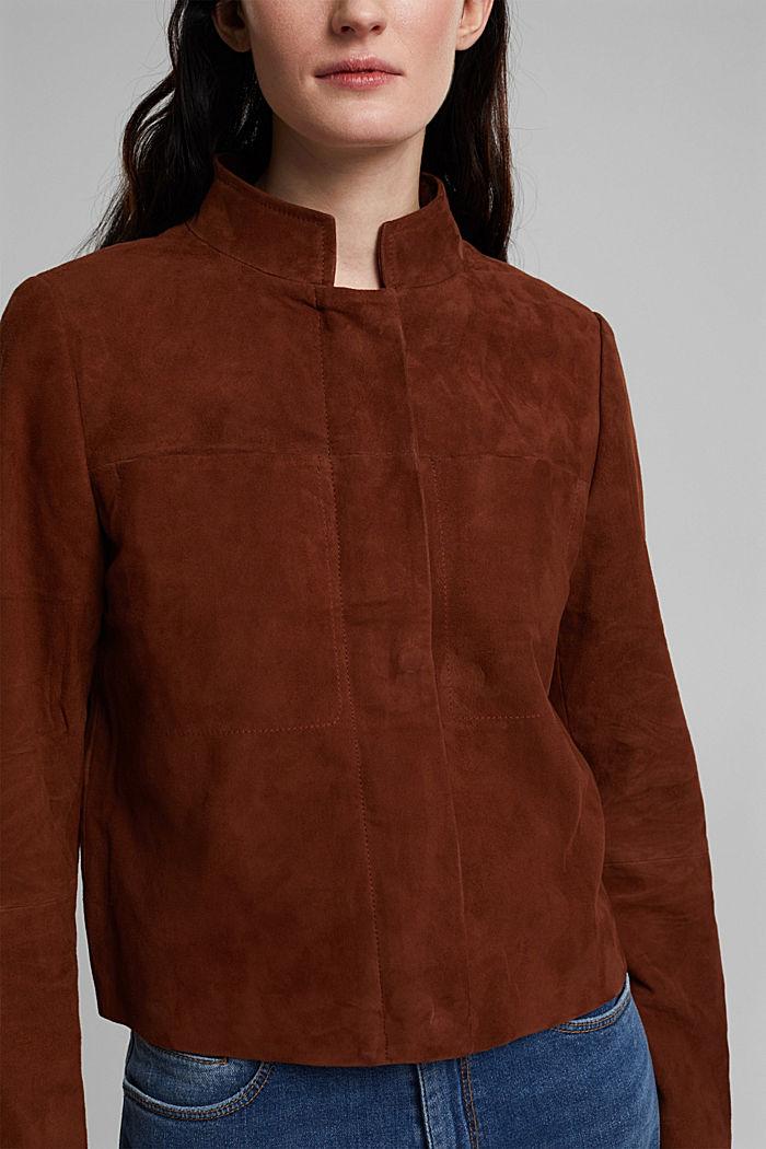 Suede jacket, TOFFEE, detail image number 2