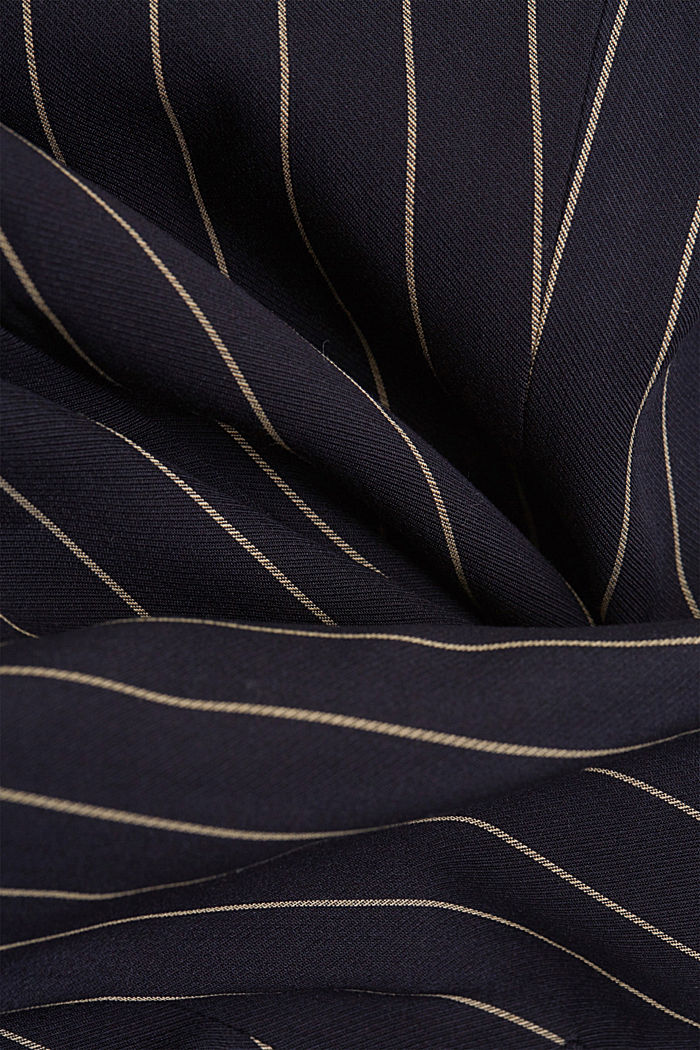 Recycled: striped one-button blazer, NAVY, detail image number 4