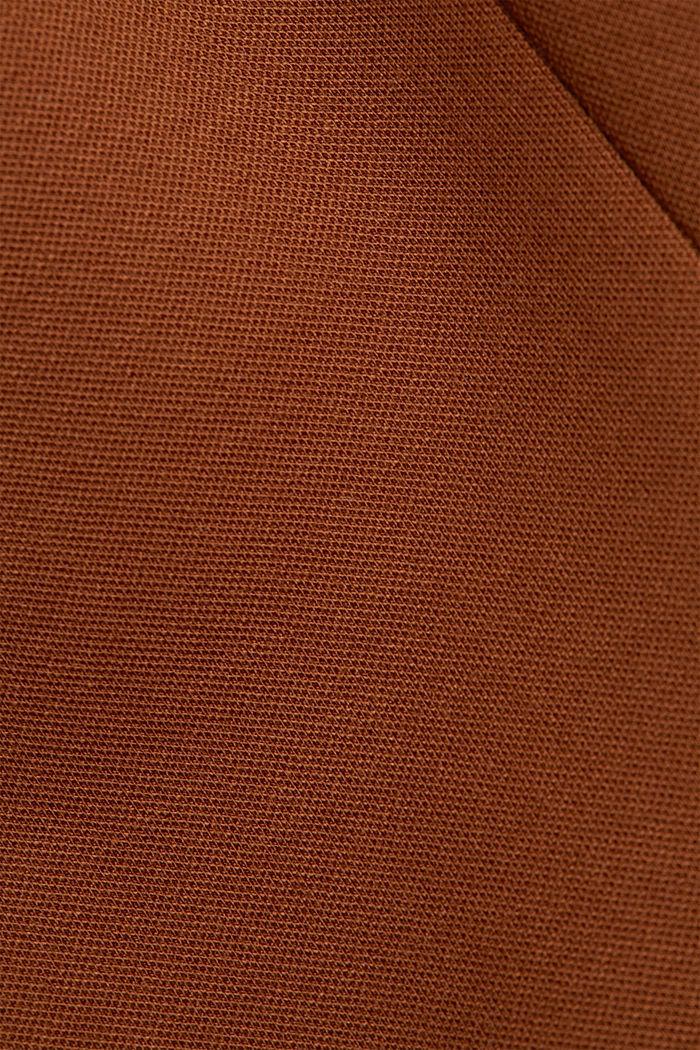 Long jersey blazer, TOFFEE, detail image number 4