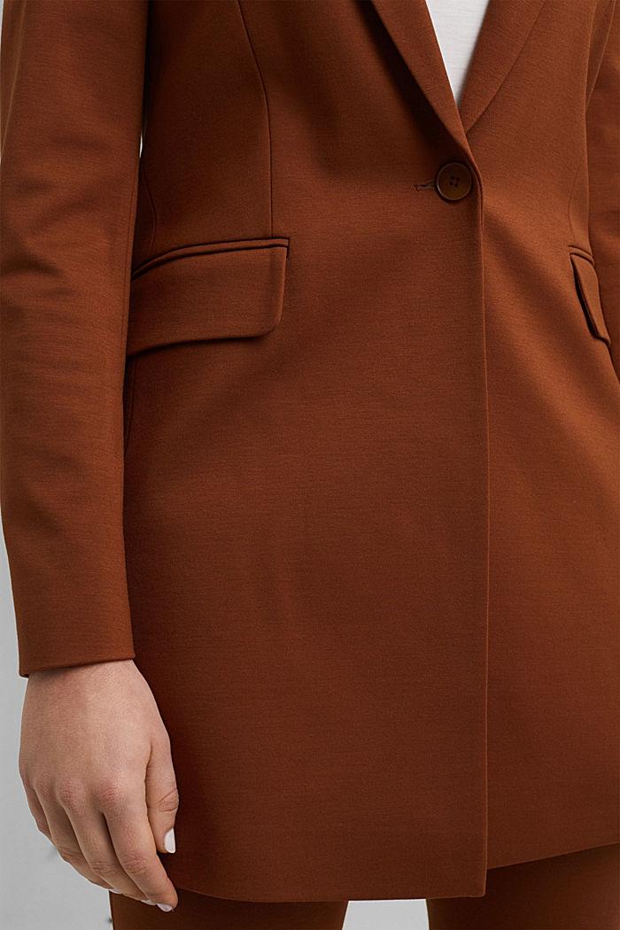 Long jersey blazer, TOFFEE, detail image number 5