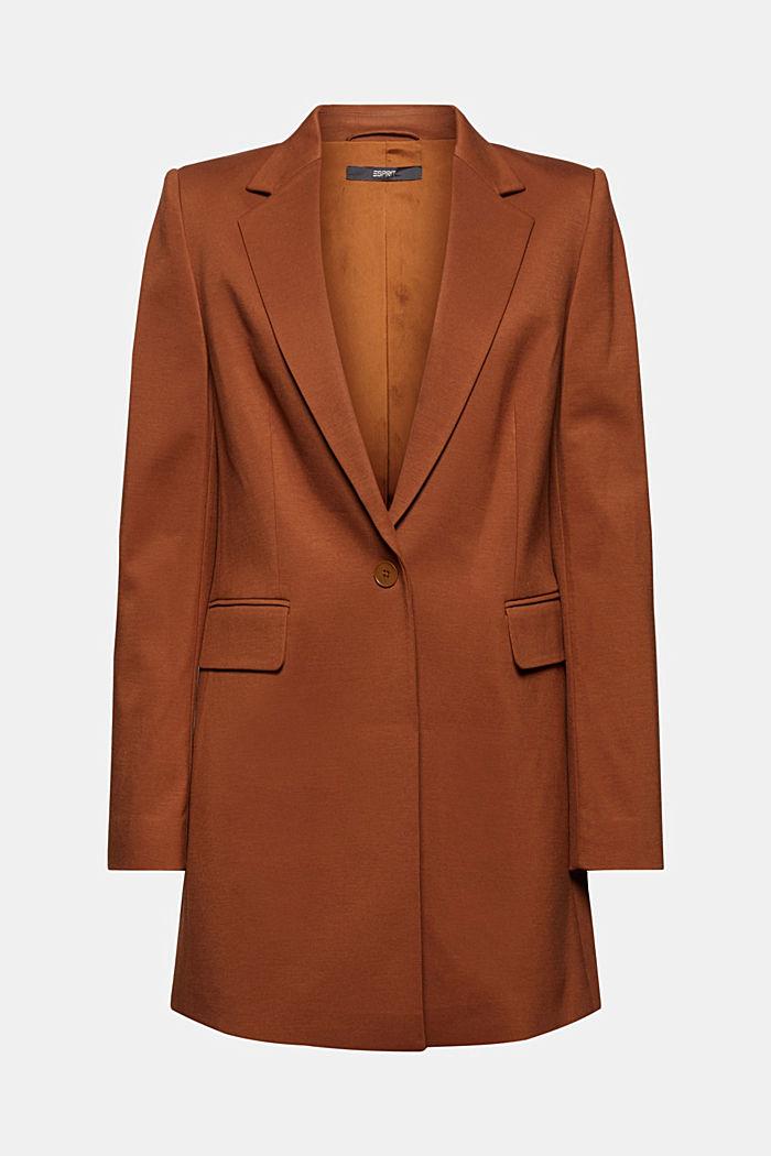Long jersey blazer