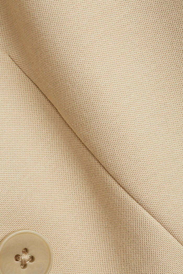 Double-breasted jersey blazer, SAND, detail image number 4