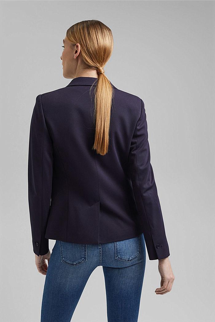 Zweireihiger Jersey-Blazer, NAVY, detail image number 3