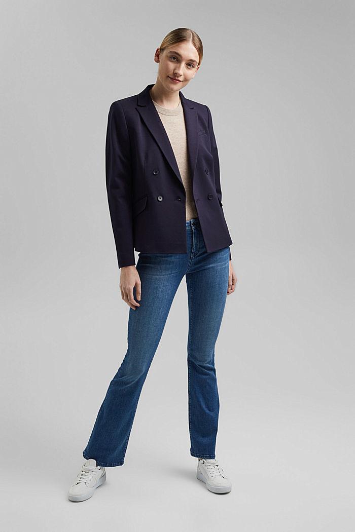 Zweireihiger Jersey-Blazer, NAVY, detail image number 1