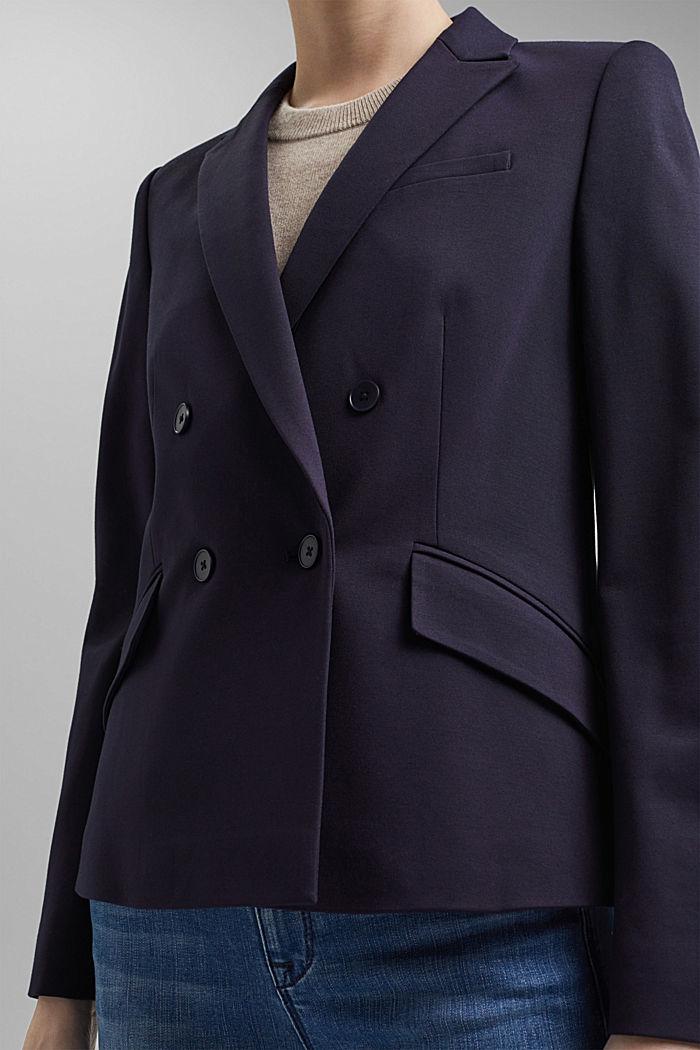 Zweireihiger Jersey-Blazer, NAVY, detail image number 2