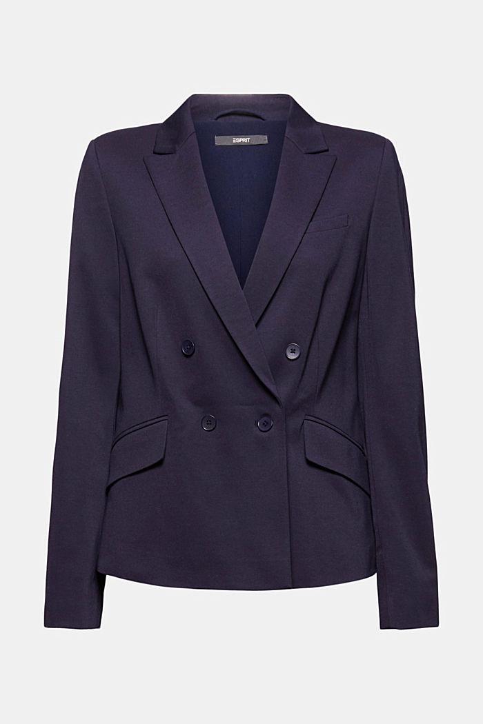 Zweireihiger Jersey-Blazer, NAVY, detail image number 7