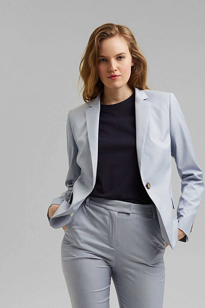 SMART SPRING Mix + Match stretch blazer, LIGHT BLUE, detail image number 0