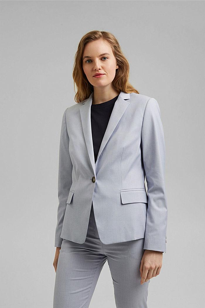 SMART SPRING Mix + Match stretch blazer, LIGHT BLUE, detail image number 5