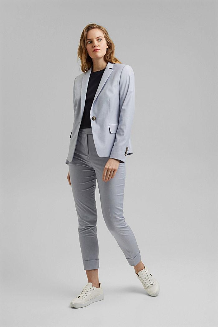 SMART SPRING Mix + Match stretch blazer, LIGHT BLUE, detail image number 1